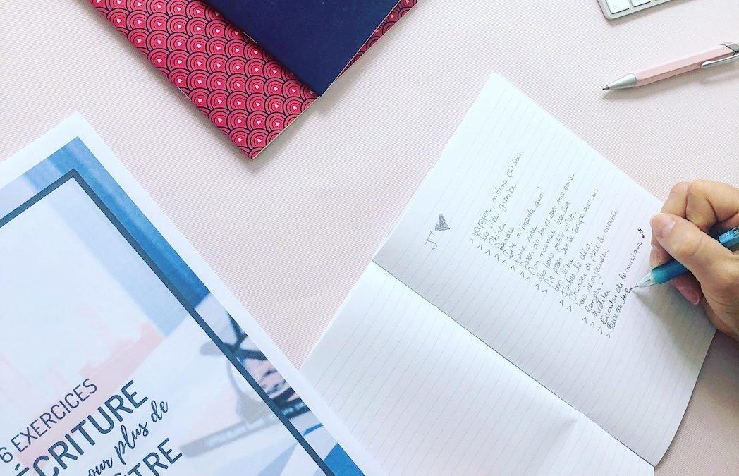 Exercices d'écriture pour les vacances