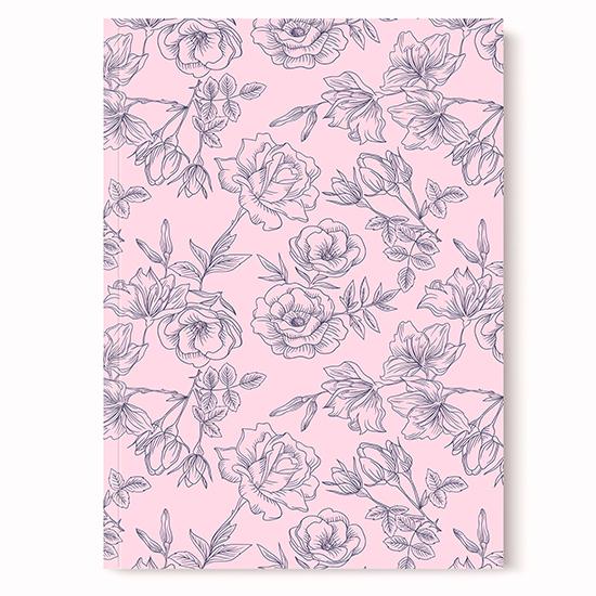 Cahier fleurs vintage