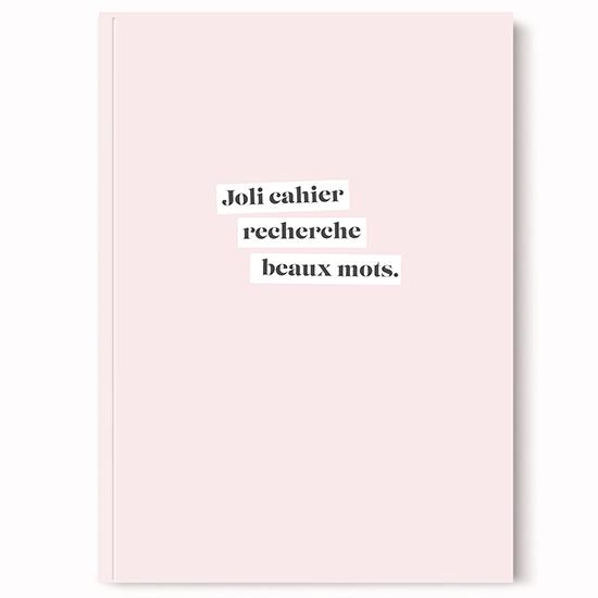 Cahier beaux mots