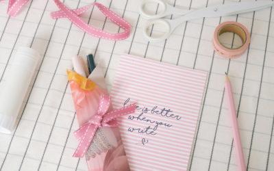 DIY pochette crayons origami