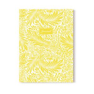 cahier journaling jaune A5 par les jolis cahiers